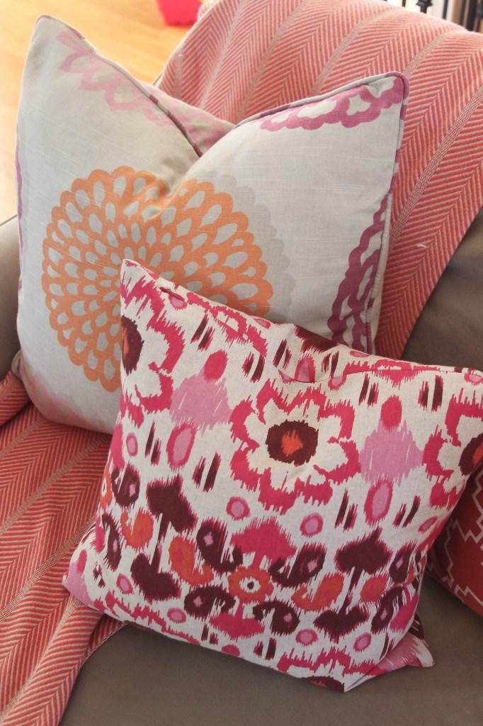 Mix Patterned sofa pillows