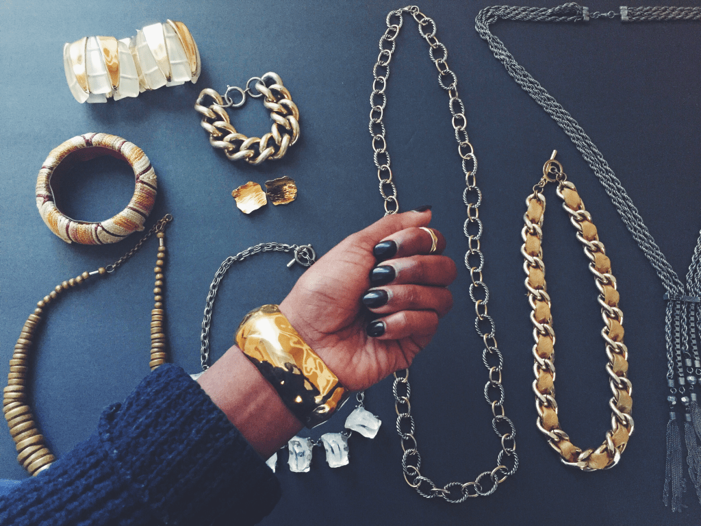 Thrifted jewelry