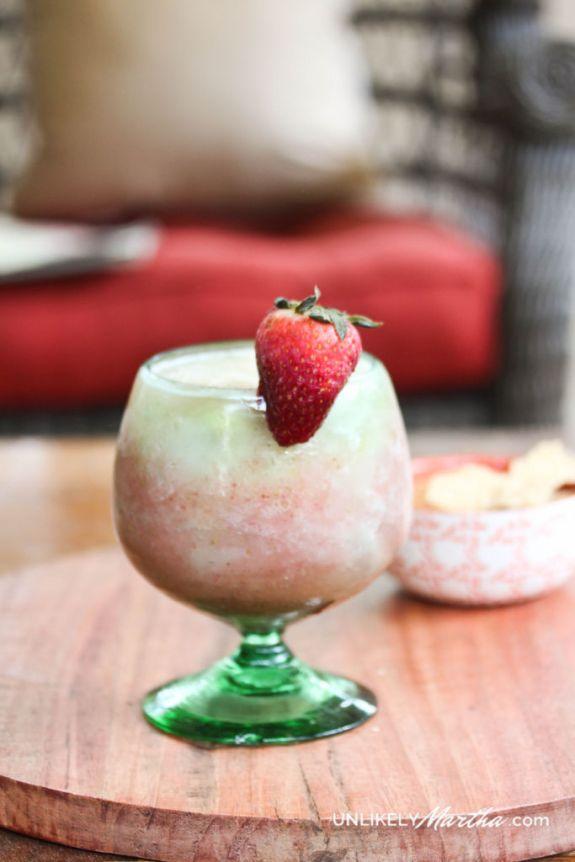 Strawberry and Banana Wine Slushy