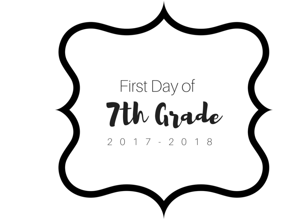 First Day of School Printable