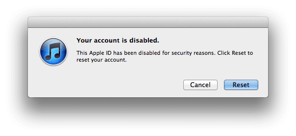 appleid has been disable