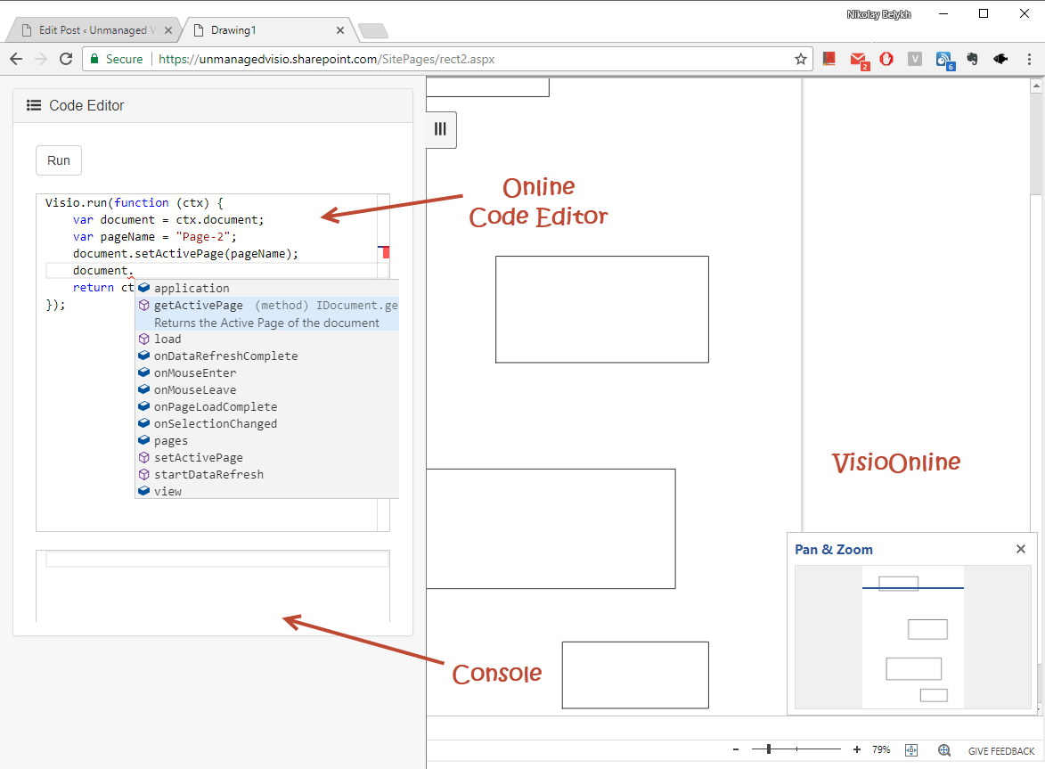 Visio Office Using Svgpublish As Visio Online Script Playground Unmanaged Visio