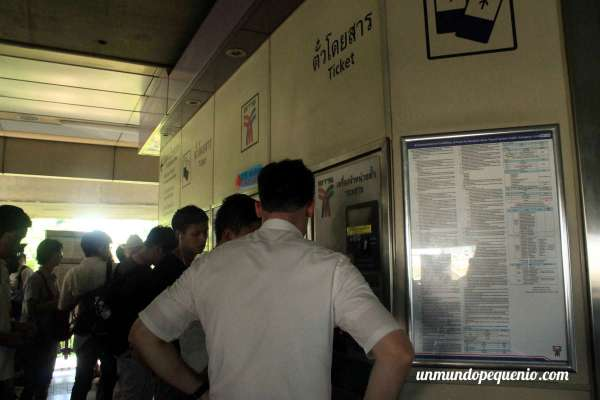 Expendedora automática de tickets para el skytrain