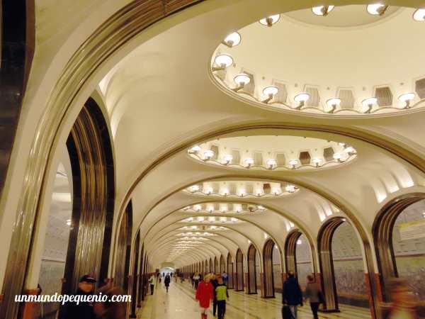 Estación de metro Mayakovskaya Moscú