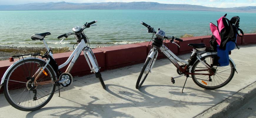 Bicicletas en Costanera de El Calafate
