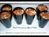 Bicchierini con yogurt alle nocciole e nocciole sbricolate x blog