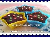 Cupcakes cioccolato con cuore fondente