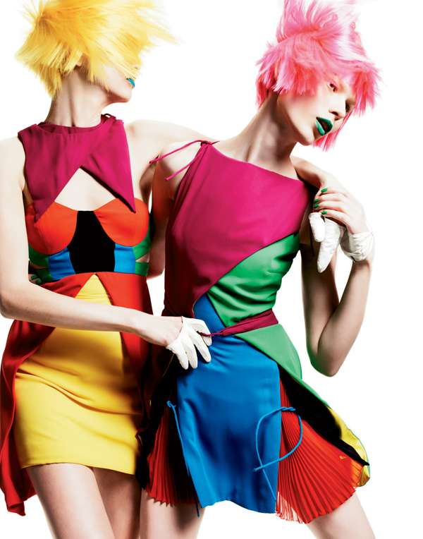 Kaleidoscope Color editorial shot for Interview Magazine by Greogory Harris, 2011