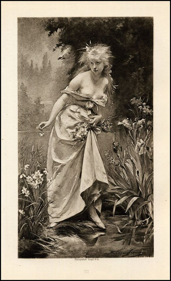 TRY AGAIN MY EYES ARE UP HERE. {Ophelia (1880), de Madeleine Lemaire}