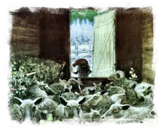 Christmas Monsters image of The Tomten by artist Astrid Lindgren
