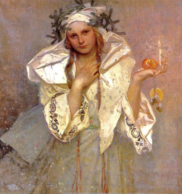 Rituals- Alphonse Mucha, Christmas in America