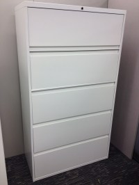 5 Drawer Lateral Filing Cabinet-Steelcase-900 Series-Ultra ...