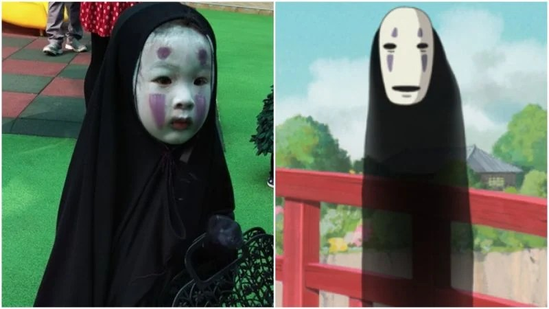 Korean Girl Wallpapers Hd Kid Dresses As No Face From Anime Spirited Away Wins The