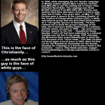 Tony Perkins is the face of Christianity?