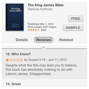Best review of the King James Bible ever