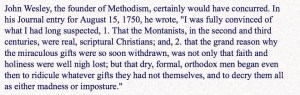 Quote of the Day – John Wesley on Montanism