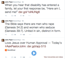 For all time's sake: John Piper's latest tweet stupidity