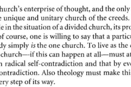 Jenson on (lack of) theology in a divided Church
