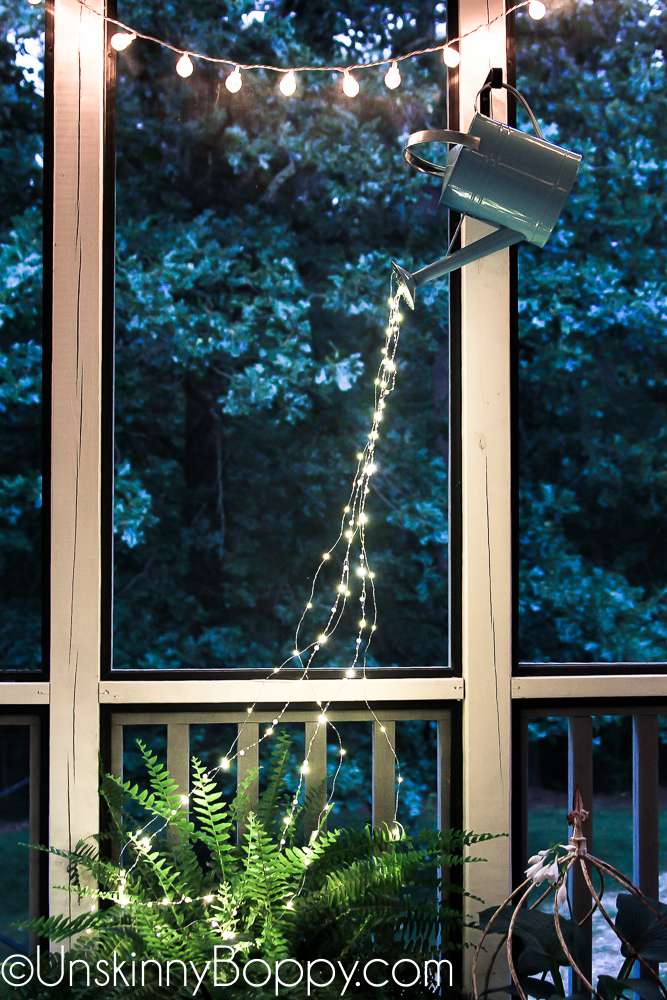 String Lights Make Your Own Diy Fairy Lights Pouring From A Watering Can - Unskinny Boppy