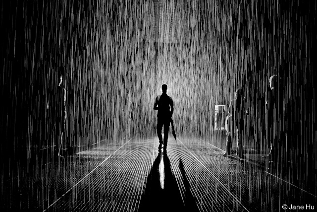 Alone Girl Wallpaper In Rain The Rain Room At Moma Photos Untapped Cities