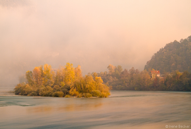A Foggy Autumn Morning On the Drina River
