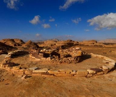 OLD JEWISH TOMB IN MADAIN SALEH ARCHAEOLOGIC SITE, SAUDI ARABIA