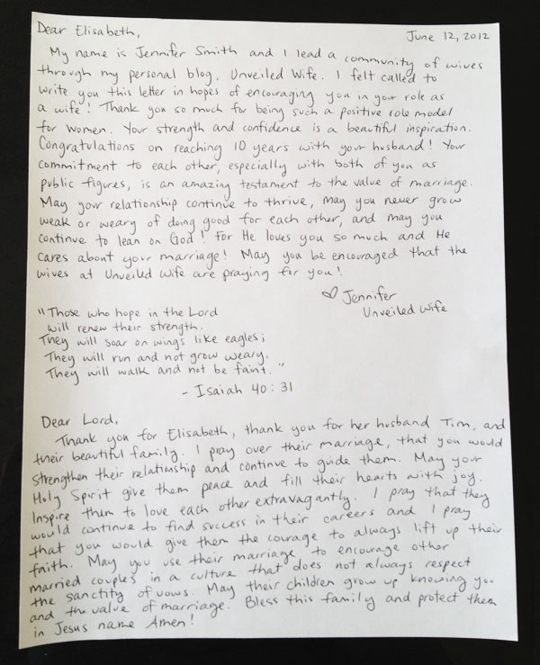 Httpusaonlinesouthalabamaedu Encouraging Letter To Elisabeth Hasselbeck
