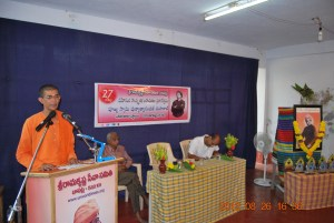 Rev. Swami Punyatmanandaji Maharaj addressing the children