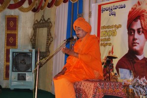 A play on Swami Vivekananda for school children in Rotary Kalyana mandapam.