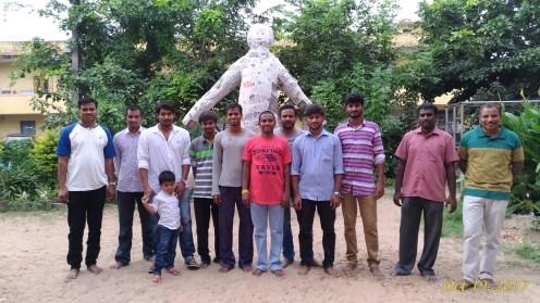 20171019 Youth members with the effigy of Narakasura - Deepavali