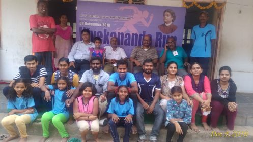 Vivekananda Run volunteers