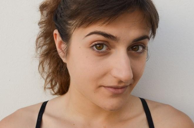 Rainbow eye makeup tutorial - before