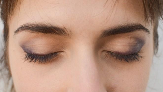 Rainbow eye makeup tutorial - step 1