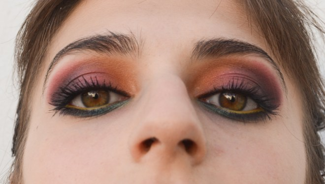 Rainbow eye makeup tutorial - step 11