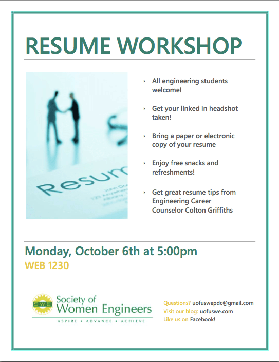 Resume Building Workshop | Resume Examples And Writing Tips - The