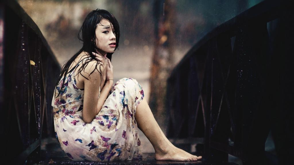 Sad Crying Girl Wallpaper Hd 一个人伤心难过的图片 高清壁纸 图片 时光记忆 回车桌面