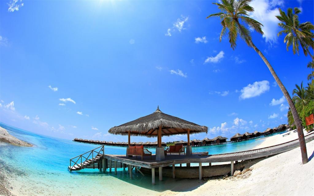 Pc Wallpaper Anime Hd 马尔代夫唯美蓝色大海 高清壁纸 风景图片 回车桌面