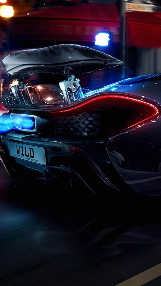 Hd Car Wallpapers 2560x1600 夜灯下的迈凯轮p1超级跑车 锁屏图片 高清手机壁纸 汽车 回车桌面
