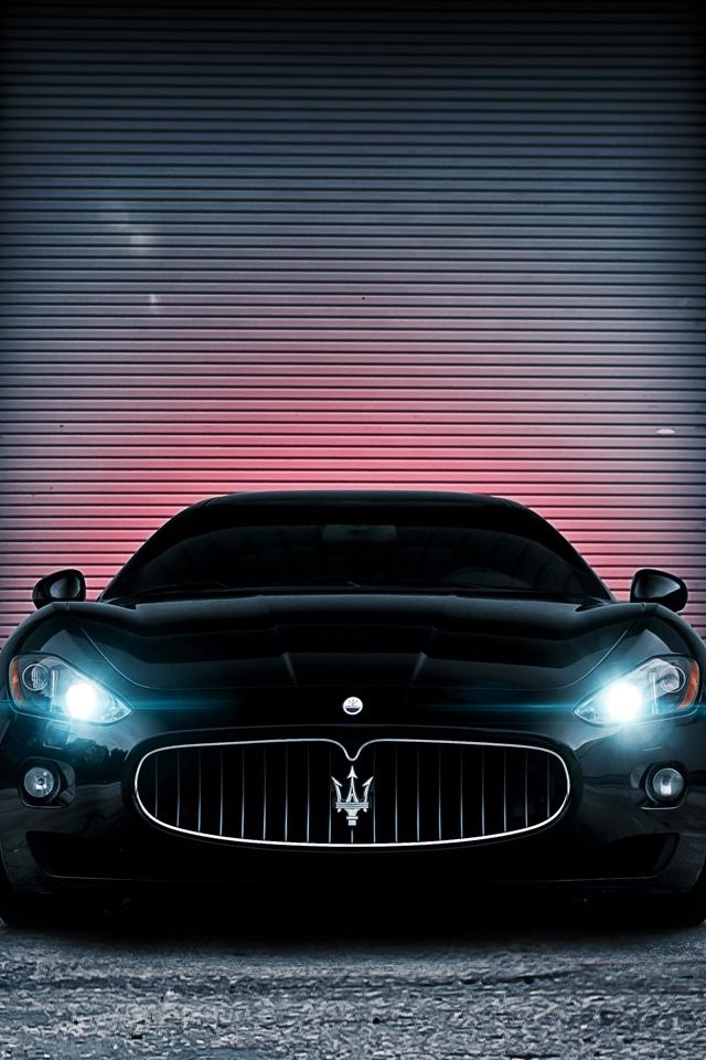 640x960 Hd Wallpapers 黑色的玛莎拉蒂gran Turismo 锁屏图片 高清手机壁纸 汽车 回车桌面