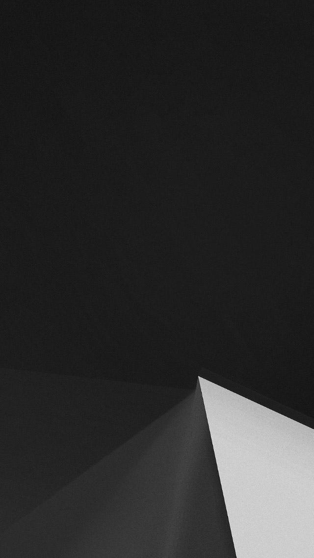 Iphone X Wallpaper Hd Black 简单黑白三角形 锁屏图片 高清手机壁纸 回车桌面