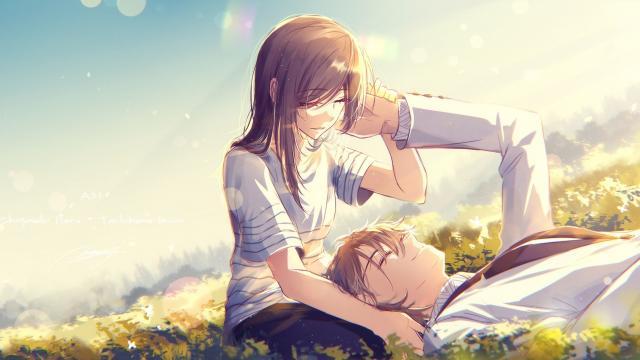 Anime Girls 2960x1440 Wallpaper 令人羡慕的浪漫唯美动漫情侣 高清壁纸图片 动漫人物 回车桌面