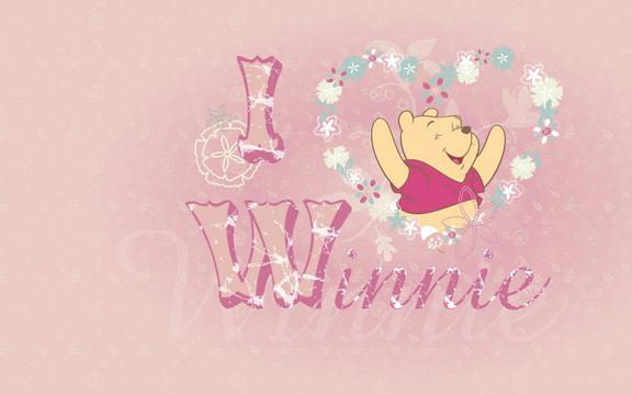 Cute Pink Iphone Wallpaper 小熊维尼 高清壁纸图片 卡通明星 回车桌面