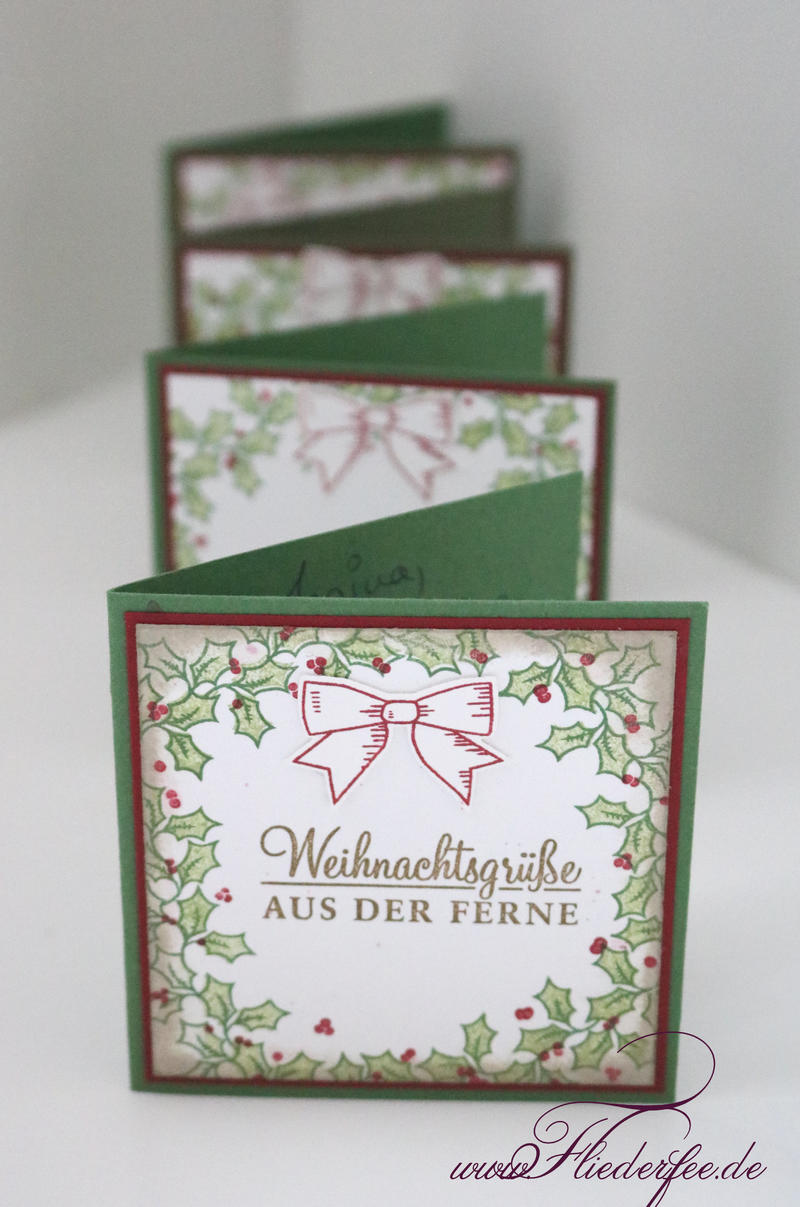 Stampin Up Karten Groesse Adventsgrün Fliederfee Stampin Up Hockenheim