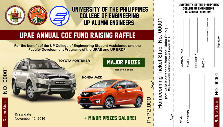 Important Things to Know about the Raffle and Homecoming Tickets - raffle ticket prizes