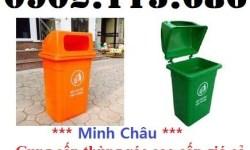 Thùng rác nhựa 90l nắp hở, thùng rác nhựa ngoài trời 90l, thùng rác công cộng 90l, thùng rác nhựa 90l giá rẻ,