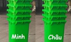 Thùng rác 240l nắp kín, thùng rác nhựa 240 lít, thùng rác 240l giá rẻ, thùng rác 240l có bánh xe, thùng rác công cộng 240 lít,