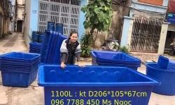 Thùng nhựa 1100 lít nuôi cá Lhe 0967788450 Ngọc