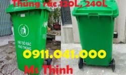 Thùng rác 240lit hạn chế ô nhiễm môi trường lh 0911.041.000