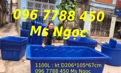 Thùng nhựa lớn nuôi cá 2000lit/1100lit/750lit/200lit… Lhe 0967788450