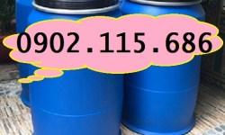 Thùng phuy nhựa 200l có đai sắt, thùng phuy nhựa 220l mới, thùng phuy nhựa 200l nắp mở, thùng phuy nhựa 200l 4 đai, thùng phuy nhựa chứa hóa chất,